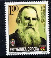 BOSNIAN SERB REPUBLIC 2003 Leo Tolstoy Anniversary MNH / **.  Michel 282 - Bosnia And Herzegovina