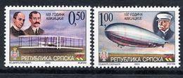 BOSNIAN SERB REPUBLIC 2003 Centenary Of Powered Flight MNH / **.  Michel 291-92 - Bosnia And Herzegovina