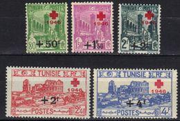 Tunisie N° 305 - 309 * - Tunisia (1888-1955)