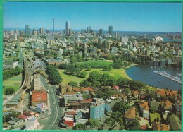 Australie - Sydney - View From Darling Point, Overlooking Rushcutters Bay, The Eastern Suburds Railway And The Skyline - Sydney