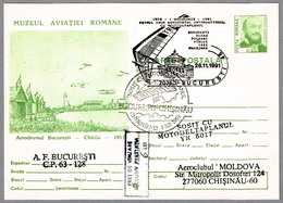 Primer Vuelo Aeropostal Internacional En ALA DELTA CON MOTOR - Ultra Light Trike. Bucuresti 1991 - Correo Postal