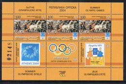 BOSNIAN SERB REPUBLIC 2004 Athens Olympic II Block MNH / **.  Michel Block 11 - Bosnia And Herzegovina