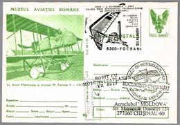 Primer Vuelo Aeropostal Internacional En ALA DELTA CON MOTOR - Ultra Light Trike. Focsani 1991 - Correo Postal