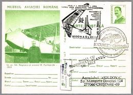 Primer Vuelo Aeropostal Internacional En ALA DELTA CON MOTOR - Ultra Light Trike. Vaslui 1991 - Correo Postal
