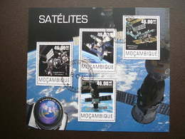 Space. Raumfahrt. Espace # Mozambique # 2014 Used S/s # Satellites - Space