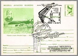 Primer Vuelo Aeropostal Internacional En ALA DELTA CON MOTOR - Ultra Light Trike. Iasi 1991 - Correo Postal