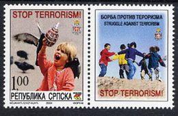 BOSNIAN SERB REPUBLIC 2004 Struggle Against Terrorism With Label MNH / **.  Michel 316 - Bosnia And Herzegovina
