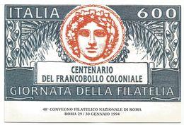 V1597 Roma - 48 Convegno Filatelico Nazionale 1994 / Non Viaggiata - Borse E Saloni Del Collezionismo