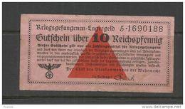 Germany 1933-1945 Third Reich Lagergeld 10 Reichpfrnning - [10] Militaire Uitgaven