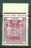 Samoa: 1955   Postal Fiscal 'Western Samoa' OVPT  SG235    £2    MNH - Samoa