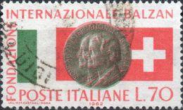 VARIETA 1962 - FONDAZIONE BALZAN - COLORI ROSSO E VERDE FORTEMENTE FUORI REGISTRO - 6. 1946-.. Repubblica