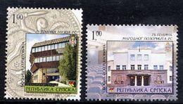 BOSNIAN SERB REPUBLIC 2005 Museum And Theatre MNH / **.  Michel 348-49 - Bosnia And Herzegovina