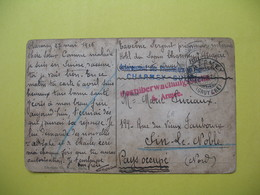 Carte De Correspondance De Pays Occupé 1916  De  Bhariney - Gruyère  Pour Lin Le Noble 1916  (Nord) - Marcophilie (Lettres)