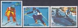 Paraguay 1987 Sport Spiele Olympia Olympics Calgary Skifahren Skiing Bob Figini Wenzel, Aus Mi. 4111-5 ** - Paraguay