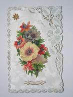 1908 Carte Postale DENTELLE Ajoutis Découpis Fleurs étoile LAMBERT ANDRE Boucher à VIEVILLE (Haute-Marne) - Autres Communes