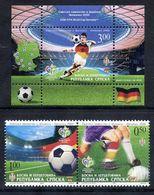 BOSNIAN SERB REPUBLIC 2006 Football World Cup  MNH / **.  Michel 369-70 + Block 15 - Bosnia And Herzegovina