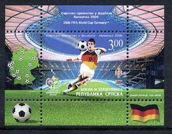 BOSNIAN SERB REPUBLIC 2006 Football World Cup Block  MNH / **.  Michel Block 15 - Bosnia And Herzegovina