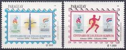 Paraguay 1996 Sport Spiele Olympia Olympics Atlanta Wasserspringen Laufen Leichtathletik Athletics, Mi. 4716-7 ** - Paraguay
