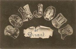Bonjour De DINANT. Oblitération 1905 Dinant Et Villers Sur Lesse-Jamblinne Vers Ciergnon. - Souvenir De...