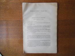 4 JUILLET 1873 CONSEIL SUPERIEUR DE L'AGRICULTURE ET DE L'INDUSTRIE DISCUSSION SUR LES IMPOTS  58 PAGES - Documentos Históricos