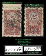 TURKEY , EARLY OTTOMAN SPECIALIZED FOR SPECIALIST, SEE...Mi. Nr. 740 - Mayo 82 A + B - 1920-21 Anatolie