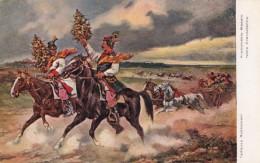 Krakow Poland Wedding Party, Horsemen Carriage, Rybkowski Artist Image, C1910s(?) Vintage Postcard - Poland