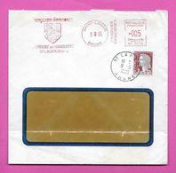 Lettre  Marianne De Decaris   + EMA SD 0775 Oblitération  ST LEGER  RHONE - 1960 Marianne Van Decaris