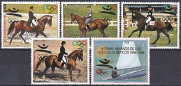 Paraguay 1989 Sport Spiele Olympia Olympics Barcelona Atlanta Reiten Reiter Riding Pferde Horses Segeln, Mi. 4395-9 ** - Paraguay