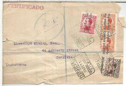 SEGUNDA REPUBLICA BILBAO FRONTAL CC CERTIFICADA MAT GUARDIA NOCTURNA DEFECTOS - 1931-50 Briefe U. Dokumente
