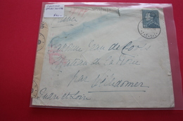 Belgique Lettre Pour La France Censure Allemande + Encre Invisible - Postmark Collection