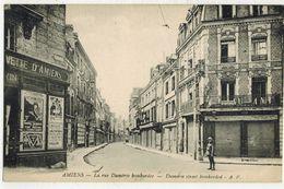 MILITARIA GUERRE 14/18 AMIENS BOMBARDEE SOMME :  La Rue Duméril Après Les Bombardements Allemands - Guerre 1914-18
