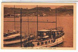 83..SANARY SUR  MER   LES  YACHTS  ET  LA  GRANDE  JETEE     TBE - Sanary-sur-Mer