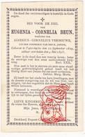 DP Eugenia C. Beun ° Poperinge 1829 † 1893 X Aloisius C. Verbouwe - Devotieprenten