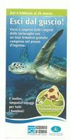 TURTLE TORTOISE TORTUE TARTARUGA TORTUGA - BROCHURE DEPLIAN GENOVA ACQUARIO AQUARIUM ZOO TIERPARK - Advertising