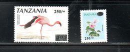 TANZANIA,2001, BIRD, FLOWER, O/P, 2v. MNH** - Oiseaux