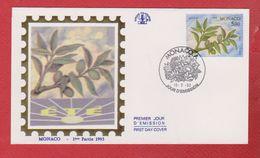 Enveloppe Premier Jour  / Eté / Monaco  / 15-2-93 - FDC