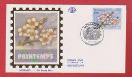 Enveloppe Premier Jour  / Printemps  / Monaco  / 15-2-93 - FDC