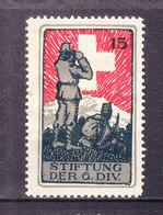 Soldatenmarke, Stiftung Der 6. Div., Ungebraucht (46171) - Labels