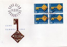 B - 1968 Svizzera - Europa FDC - FDC