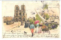 POSTAL  -PARIS -FRANCIA - IGLESIA DE NUESTRA SEÑORA  (EGLISE NOTRE-DAME - CHURCH NOTRE LADY ) - Notre Dame De Paris