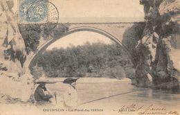 QUINSON - Le Pont Du Verdon - Pêcheur - Other Municipalities