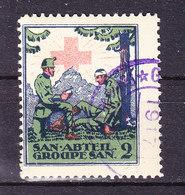 Soldatenmarke, San. Abteil 2, Gestempelt 1917 (46181) - Labels