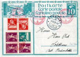 B - 1929 Svizzera - Posta Aerea Da Sangallo - Stamped Stationery