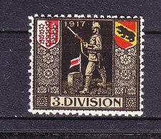 Soldatenmarke, 3. Division, 1917, Ungebraucht (46184) - Labels
