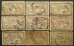 FRANCE N°120 X 9 Oblitéré - Collections (sans Albums)