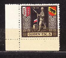 Soldatenmarke, Guiden-Esc. 3, 1917, Ungebraucht (46186) - Labels