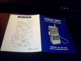 Publicité Poste Recepteur  Great Modele Gw 108 Schema Technique Electrique - Advertising