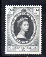 T1670 - GILBERT ELLICE 1953 , Coronation Incoronazione : L'emissione ** - Isole Gilbert Ed Ellice (...-1979)