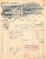 69 LYON FACTURE 1897  Machines Agricoles & Industrielles PLISSONNIER  Directeur Crédit AGricole    * Z49 Cours LAfayette - France