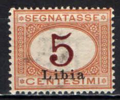 ITALIA - LIBIA - 1915 - CIFRA AL CENTRO CON SOVRASTAMPA LIBIA - MNH - Libyen